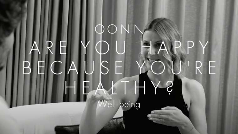 Are you happy because you're healthy?